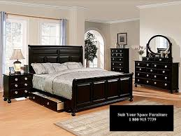 bedroom furniture in black. Awesome Bed Furniture Sets Home Design Pertaining To Queen Size Bedroom Modern In Black