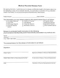 Medical Records Template Free Medical Records Release Form Templates At
