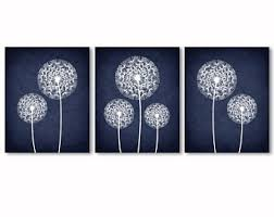 navy blue and grey wall art