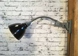 industrial gooseneck wall lamp 1960s