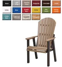 amish gardens comfo back deck chair