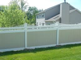 Fence Toppers For Privacy Vinyl Privacy Fence With Tan Boards And