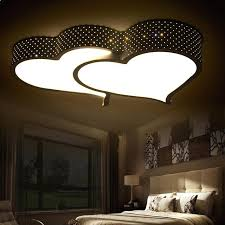 romantic bedroom lighting creative heart shaped led ceiling light romantic bedroom lights wedding room lamp study