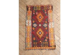 vintage mid century turkish flat woven kilim rug 100 x 57cm