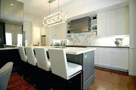 kitchen partition chandelier over island orb