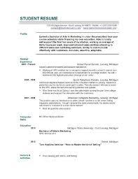 Resume Template Graduate Simple Curriculum Vitae Graduate School Courtnews