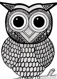 Owl Coloring Pages Full Page Coloring