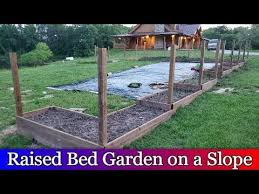 building raised beds down a slope