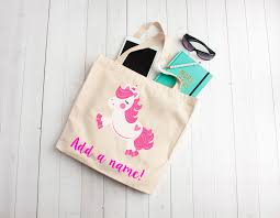 flying unicorn unicorn tote bag personalized kids party favors personalized