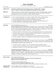 Human Resources Resume Objective Resume Sample Objective Statements ...