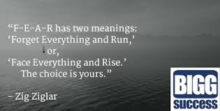 Quote Amazing FEAR Has Two Meanings Bigg Success