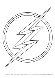 Small Picture How To Draw Flash Logo Learn The Symbol Sketch Coloring Page