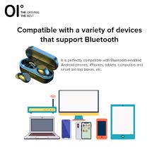 Tai nghe bluetooth 5.0 không dây OI Air-Pro FIFTH hỗ trợ thay đổi giọng nói  với âm thanh vòm 3D tiện dụng cho chơi game