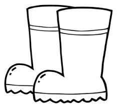 Small Picture Boots clip art black and white clipart