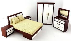 image modern bedroom furniture sets mahogany. Dolls House Modern Mahogany And White Double Bedroom Furniture Set  Miniature 1:12 B00NU1RJUK Image Modern Bedroom Furniture Sets Mahogany