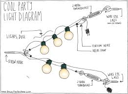 party light hangin diagram how to hang outdoor string lights on wire