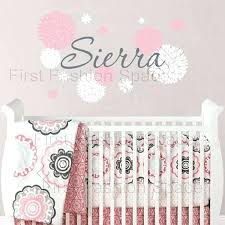 baby girl wall decal baby girl name wall decal with dahlia flowers baby girl nursery or baby girl wall
