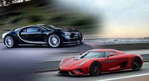 In this video are compariso. Megacar Showdown Bugatti Chiron Vs Koenigsegg Regera Redline Addict