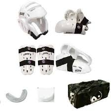 Proforce Sparring Gear Size Chart Proforce Sparring Gear Set Karate Tkd Head Gloves Shin Feet Mouth Case Bag New Ebay