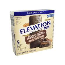 elevation by millville caramel double chocolate crunch advance low carb bars