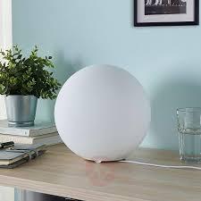 Marike Spherical Glass Table Lamp White Lightscouk