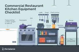 Commercial Kitchen Organizational Chart Commercial Restaurant Kitchen Equipment Checklist