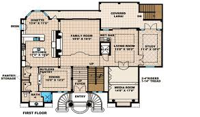 Grand Entrance With Dual Stairs  66224WE  Architectural Designs Floor Plans With Stairs