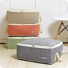 Quilt Storage Bags Cotton Luggage Bags Home Storage Organiser ... & Quilt Storage Bags Cotton Luggage Bags Home Storage Organiser Washable  Wardrobe Clothes Storing Bags Clothes Quilt Adamdwight.com