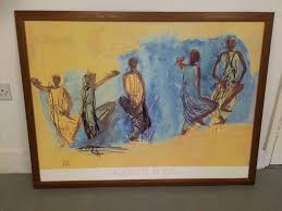 print of a watercolour gouache painting by auguste rodin titled cambodian rs
