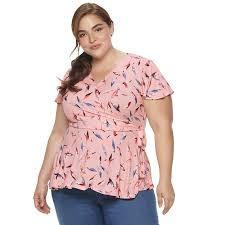 Evri Size Chart Plus Size Evri Knit Faux Wrap Top Womens Size 2xl Light