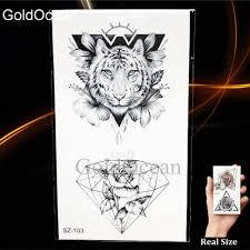 модные узкие эскиз тату для мужчин наклейки геометрический временные татуировки
