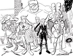 Small Picture Avengers Coloring Page Color Pages Free Printable Pagejpg