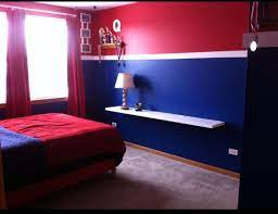 chicago cubs themed bedroom suspended