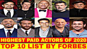 top 10 highest paid actors of 2020 list