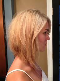 Long Angled Bob Hairstyles With Side Bangs For Blonde Hair Hair