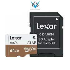 Thẻ Nhớ MicroSDXC Lexar Professional 667X V30 U3 4K A2 64GB R100MB/s  W90MB/s - Thẻ nhớ và bộ nhớ mở rộng