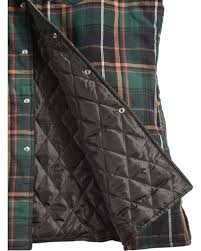 Ely Cattleman Men's Green Quilted Flannel Shirt Jacket - Tall ... & Ely Cattleman Men's Green Quilted Flannel Shirt Jacket - Tall , Green,  hi-res Adamdwight.com