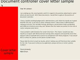 document controller cover letteryours sincerely mark dixon    document controller cover letter