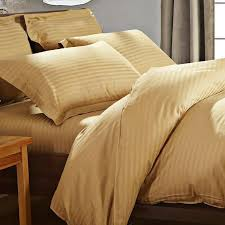 details about 100 cotton twill duvet cover satin strip white hotel bed sheet sets king size 4