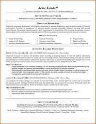 Cover Letter Accounting Clerk Resume Name At Accounts Payable 16