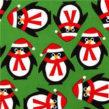 cute penguin christmas wallpaper. Contemporary Cute Green Christmas Fabric With Penguins By Robert Kaufman  Fabric  To Cute Penguin Wallpaper N