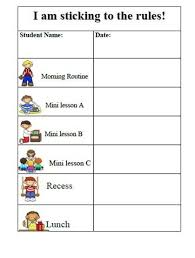 Blank Behavior Charts For Students 27 Awesome Printable Daily Behavior Charts Images