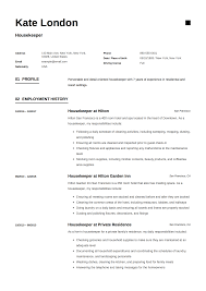 Housekeeper Resume Example 24 Housekeeper Resume Templates Free Download 23