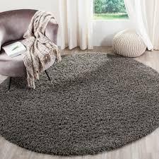 safavieh modera dark gray 7 ft x 7 ft round area rug