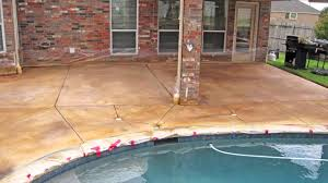 change stained concrete patio