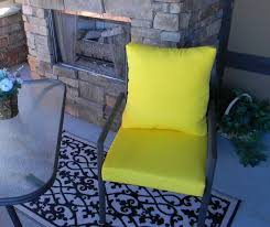outdoor tufted wicker chair cushion blue green yellow geometric. outdoor solid yellow foam cushion \u0026 back pillow set for patio dining - choose size by tufted wicker chair blue green geometric
