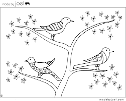 Printable Bird Nest Coloring Pages Printable Coloring Page For Kids