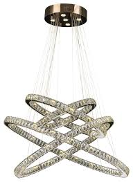modern euro galaxy 61 light led crystal constellation ring chandelier large contemporary chandeliers by crystal lighting palace