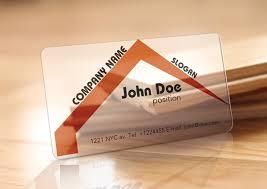 Translucent Plastic Business Cards Translucent Plastic Realtor Business Card Free Vector In