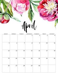 Free Printable April Calendar 2020 Free Printable Calendar 2020 Floral Print Calendar Free